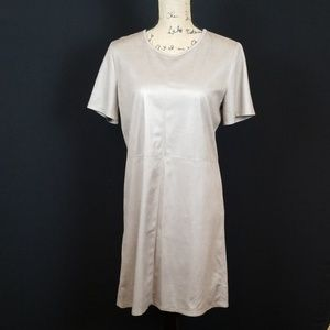 Mattison Stone Dexie dress in camel faux suede
